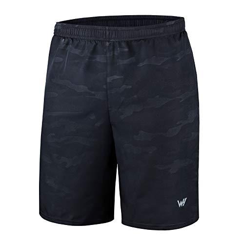 Pantaloncini da Running Uomo con Tasche con Cerniera per Allenamento in Palestra Sportiva