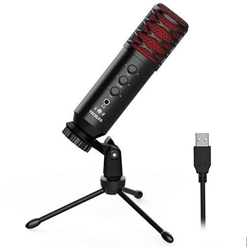 Microfono USB Professionale Condensatore per PC con Supporto