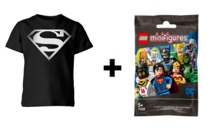 T-Shirt DC Comics KIDS +1 Mini Figure Lego