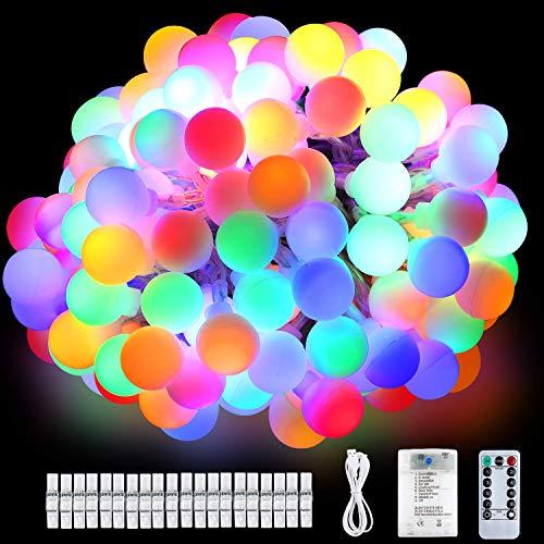 80 Luci Led Colorate - 12 Metri 8 Modalità