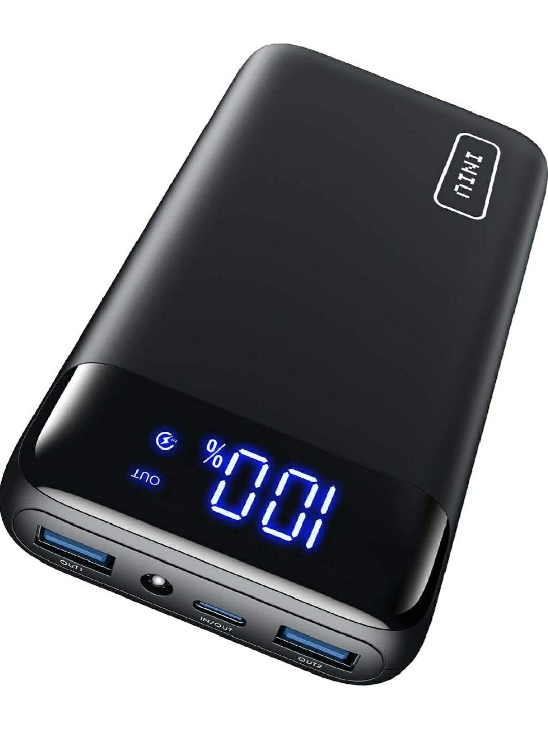 INIU Power Bank 20000mAh, 20W PD3.0 QC4.0 Carica Super Rapida con Display LED