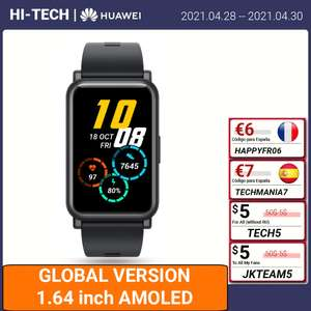 "HONOR Watch ES Smartwatch 1.64"" [Spedizione da Polonia o Spagna]"
