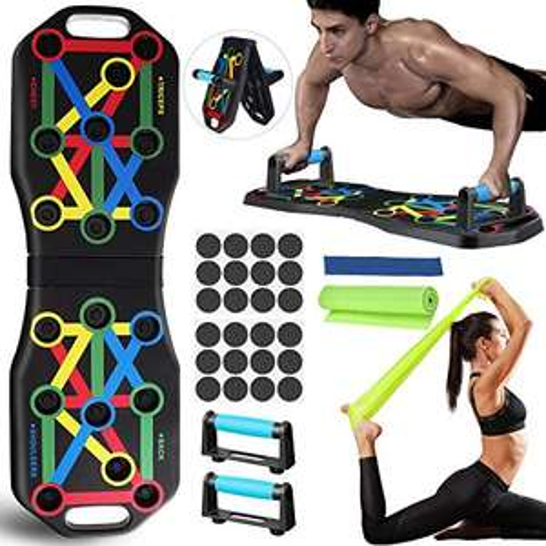 Push Up Rack Board Pieghevole e Multifunzione Attrezzature per Fitness per Allenamento Muscolare, per Uso Domestico