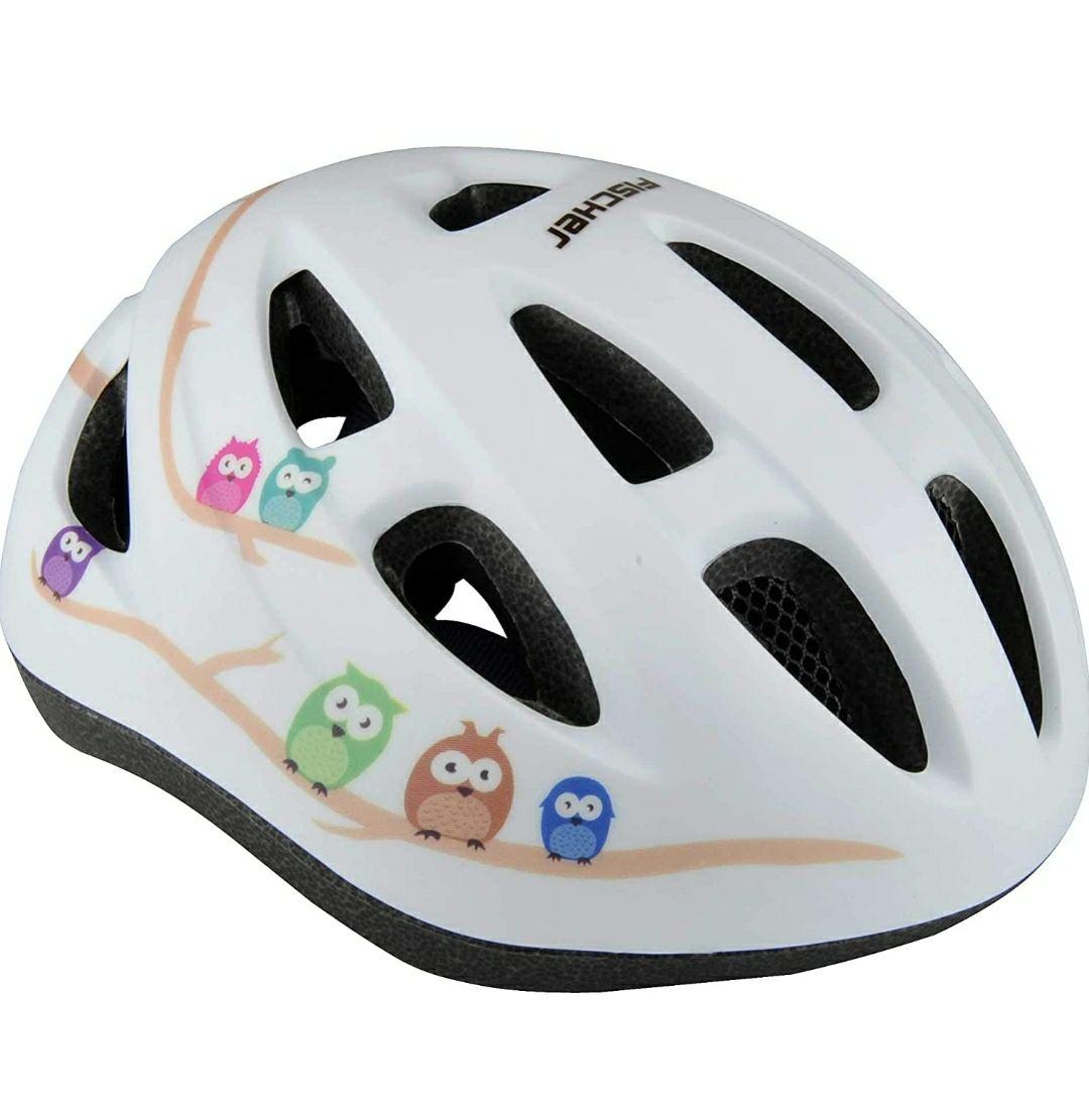 FISCHER Casco da bicicletta per bambini, varie misure, alta sicurezza, con illuminazione