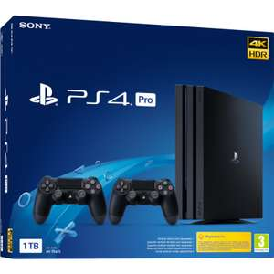 Console Sony PlayStation 4 Pro (PS4 Pro) Gamma 1TB + 2 DualShock v2 CUH-7216B Black Friday