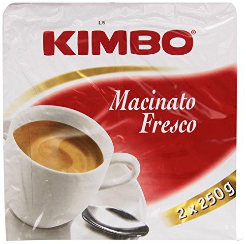 Kimbo Caffè Macinato Fresco, Pacco da 2 x 250g