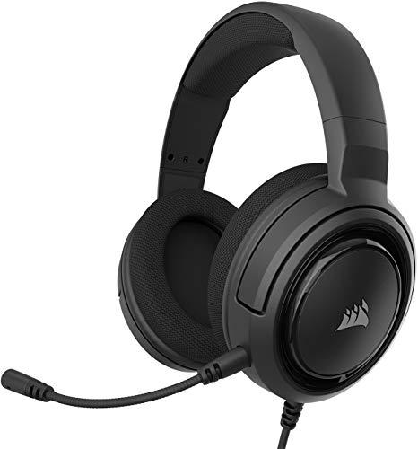 Corsair HS35 Stereo Cuffie Gaming con Microfono Unidirezionale Rimovibile Compatibili con PC, Xbox One, PS4