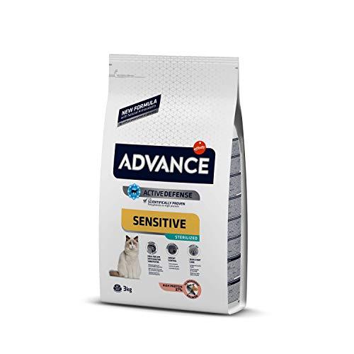 ADVANCE Sensitive Sterilized - Cibo per Gatti Sterilizzati Adulti con Salmone - 3Kg