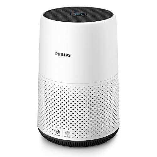 Philips Qualità Aria AC0820/10 Purificazione Automatica Intelligente, Rimuove Allergeni e Particelle Sottili, Rileva la Qualità, Bianco/Nero