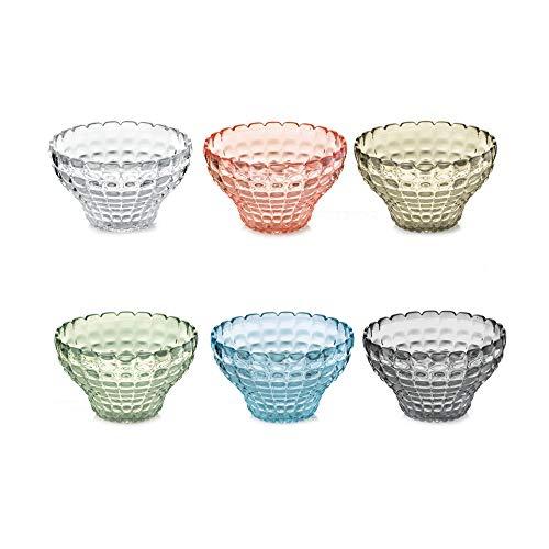 Guzzini Fratelli, Set 6 Copette, Tiffany, Multicolore, 12 cm