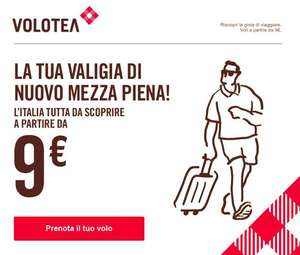 Voli a 9€ per quest'estate - Volotea