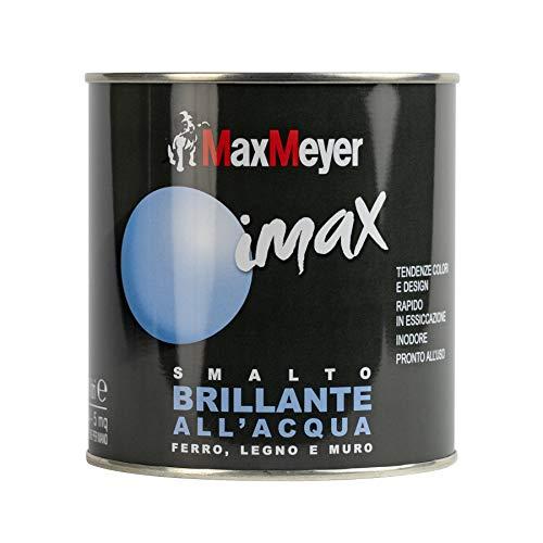 Maxmeyer 162571C400036 Smalto Brillante all'Acqua, Bianco Neve, 0.5L