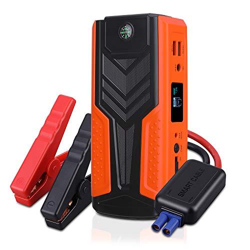 Avviatore Auto Booster Jump Starter Batteria 1200A 12V 18000mAh Multifunzione, AWANFI Avviamento Portatile Motore a Benzina