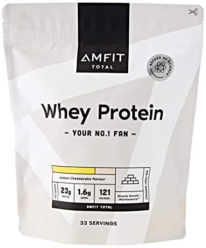 Marchio Amazon - Amfit Nutrition Proteine del Siero del Latte, Gusto Cheesecake al Limone, 1kg