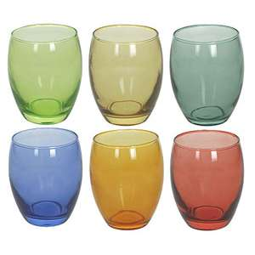 Set 6 Bicchieri Tognana Tulip Multicolor