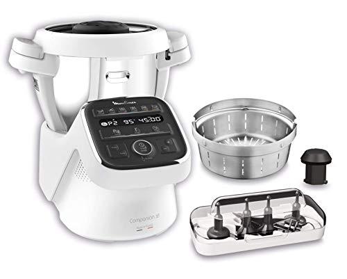 Moulinex HF80CB Companion XL, Robot da Cucina Multifunzione, 12 Programmi Automatici, 6 Accessori Dedicati,