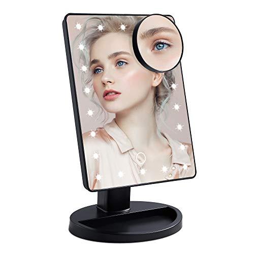 Specchio per il trucco con Luci 22 LED e Ingrandimento 10X