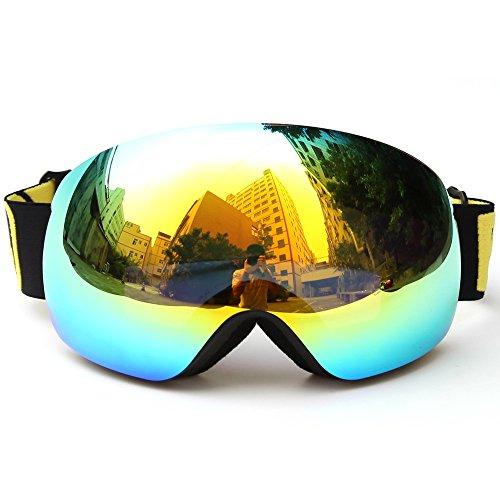 Lixada - Occhiali da sci invernali, protezione UV400
