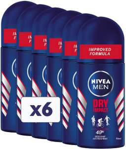 Deodorante Roll- On Nivea Dry 6x50ml 9.4€