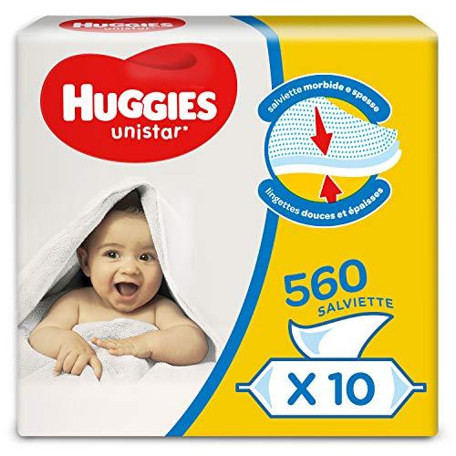 Huggies Unistar Salviette Umidificate Per Bambini, 10 Pacchi Da 56 Pezzi