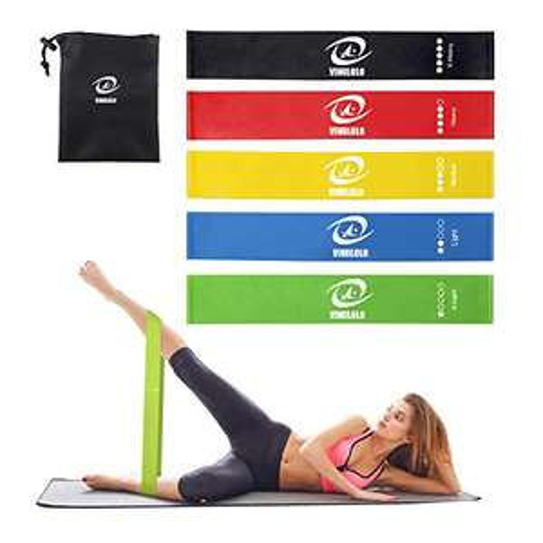 5 fasce Elastiche per Yoga