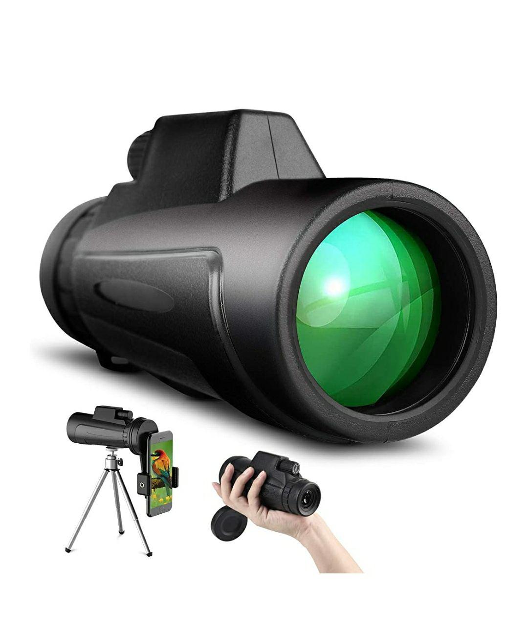 SKYSPER Telescopio Monoculare Professionale 12x50 con treppiede e Supporto Smartphone