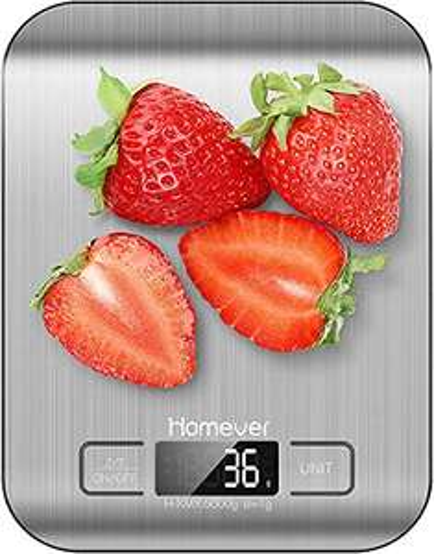 Bilancia da Cucina Digitale, Bilancia Cucina alta precisione fino a 1 g (peso massimo 5 kg), Funzione Tare, Display LCD,