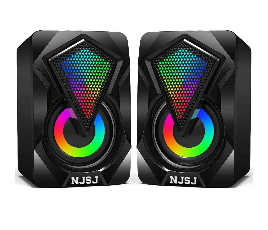 Casse PC,6W Altoparlante USB Stereo Speaker 2.0 RGB