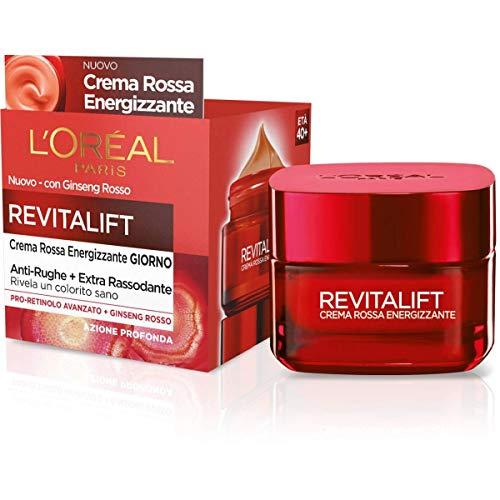 L'Oréal Paris Trattamenti Crema Viso Giorno Energizzante Anti-Rughe Revitalift, Formula Extra Rassodante