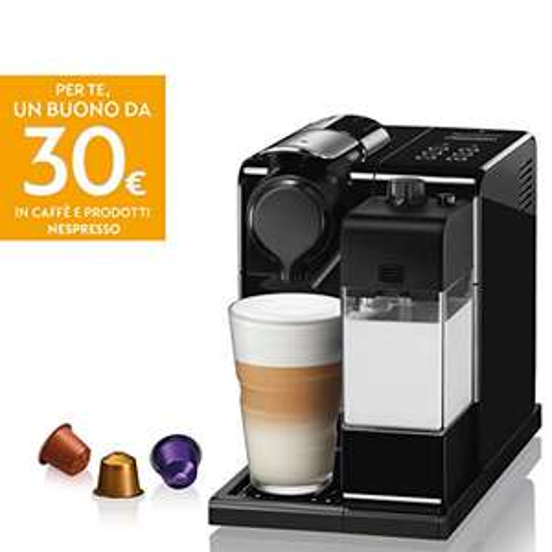 De'Longhi Nespresso Lattissima Touch Animation EN560.B Macchina da caffè, 1400 W, + 30 € Buono in caffè e prodotti Nespresso