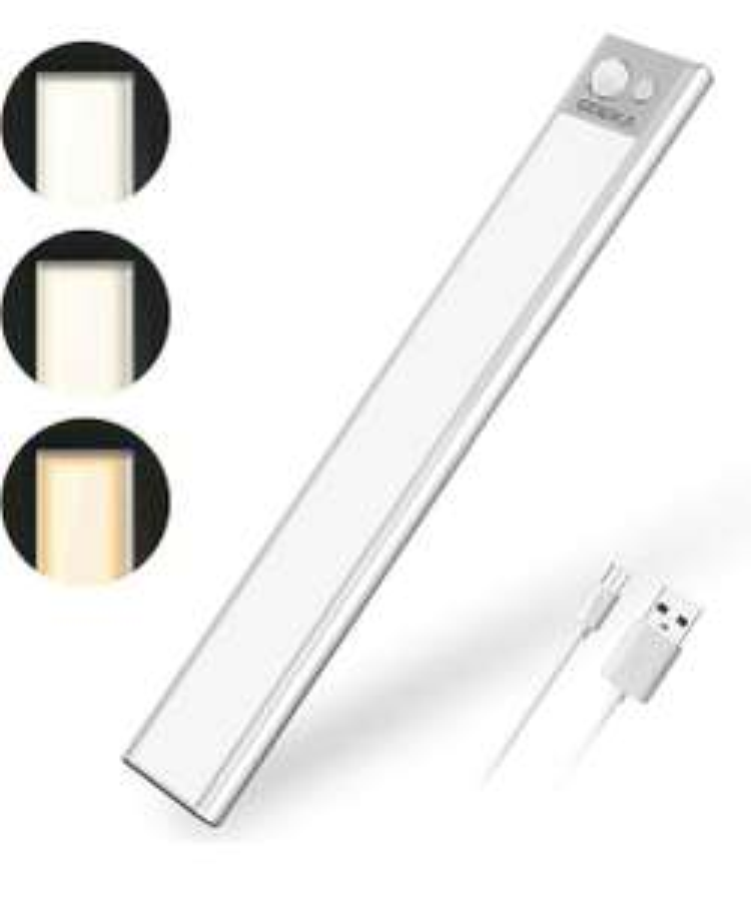 GMEKA Led Luce Armadio, 1500mAh Luce Notturna con Sensore di Movimento 74 LED, USB Ricaricabile