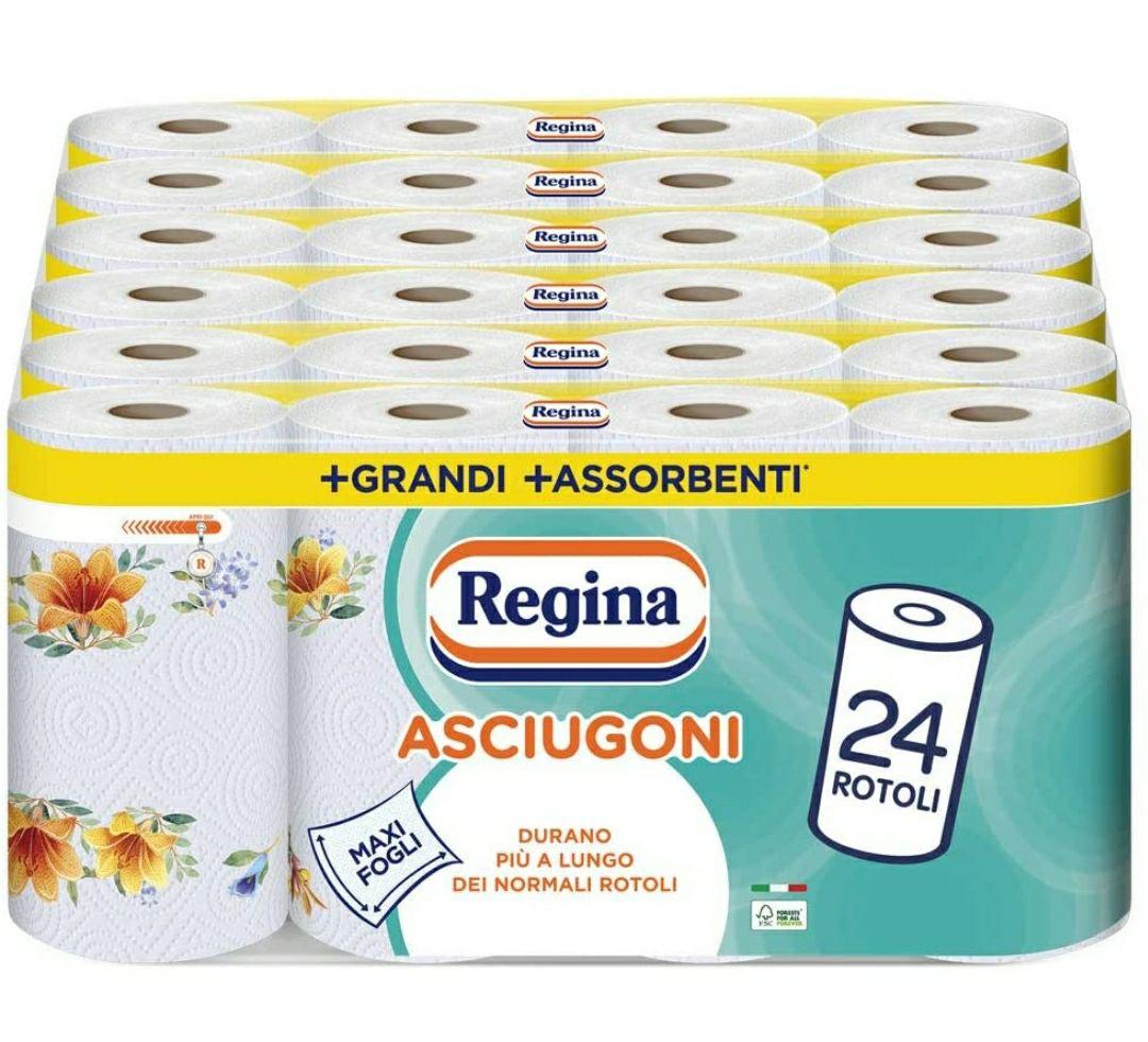 24 Maxi Rotoli - Regina Asciugoni Carta da Cucina