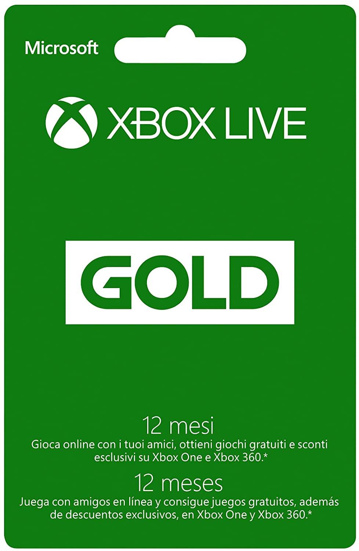 Xbox Live Gold Abbonamento 12 mesi 38.6€