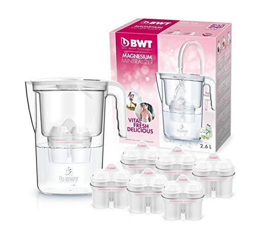 BWT speciale–Caraffa da acqua filtrante da 1,4lt + 6 filtri