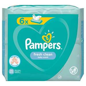 6x52 Pampers Fresh Clean Baby - Salviette umidificate