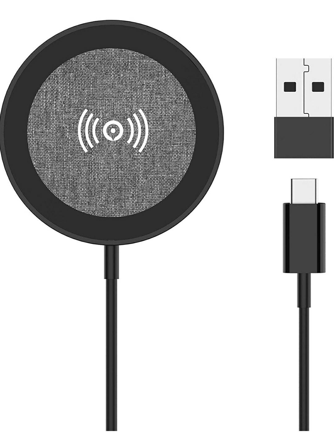Lecone - Caricatore con Cavo Magnetico per Ricarica Wireless 15W