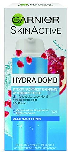 GARNIER SkinActive Hydra Bomb - Crema idratante intensiva 3 in 1 con melograno e amla - senza parabeni - 50 ml