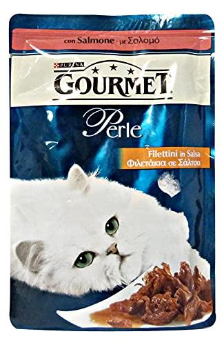 PURINA Set 24 Gourmet Filettini Salmone 85 Gr. Cibo per Gatti
