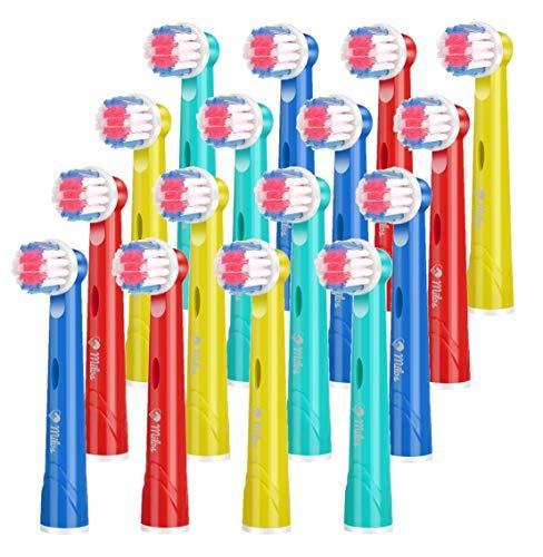 Testine per Spazzolino Elettrico per Bambini/Confezione da 16 Testine per Spazzolino Oral B Compatibili