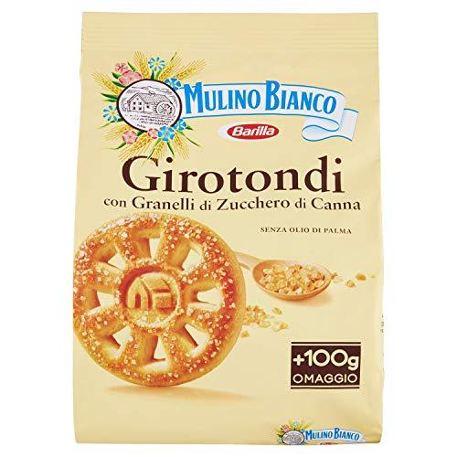 Mulino Bianco Biscotti Girotondi con Granelli di Zucchero di Canna, - TARALLUCCI 800g