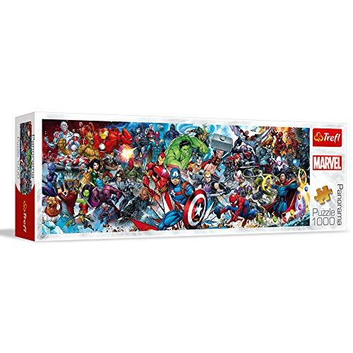 Trefl- Puzzles 1000 Panorama Marvel Puzzle Colori, 29047