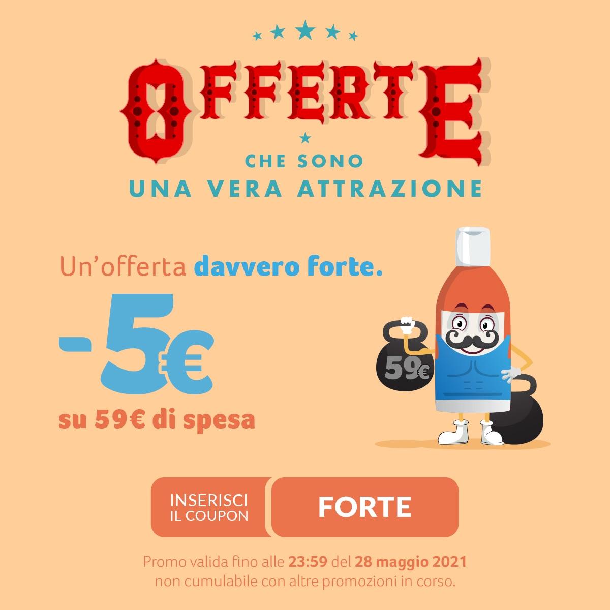 FARMAè' 5 EURO DI SCONTO SU UNA SPESA DI 59 EURO