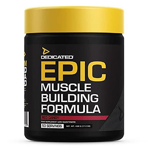 Dedicated Nutrition Epico Supplemento per la Costruzione Muscolare, Caramelle Rosse - 490 g