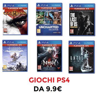 Selezione Giochi PS4 da 9.9€ - Mediaworld