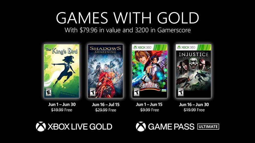 Games Xbox with Gold Giugno 2021 : The King's Bird , Shadows Awakening , Neo Geo Battle Coliseum & Injustice Gods Among Us