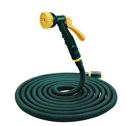 Tubo Estensibile da Giardino in Poliestere Espandibile Tubo Flessibile espandibile Flessibile con Pistola per irrigazione