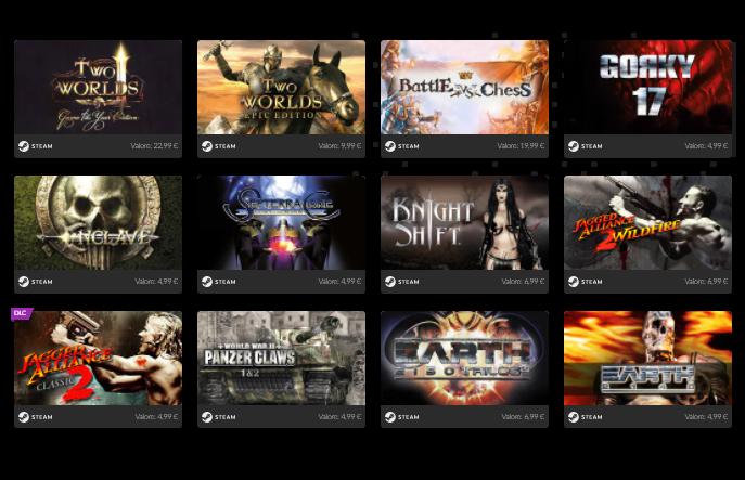 11 Giochi per Steam 0.9€