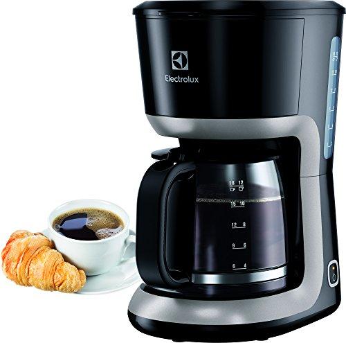 Electrolux EKF3300 Macchina da Caffè Americano Programmabile, 1100 W, 0.5 Litri, Plastica, Nero