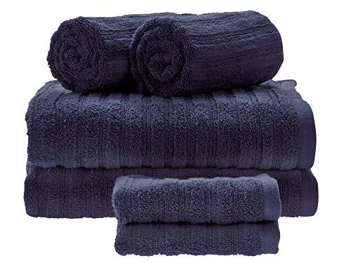 Set da 6 Asciugamani da Bagno, Cotone 100%