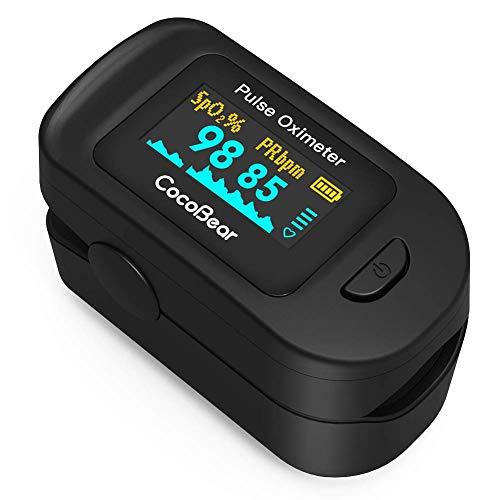 Pulsossimetro Monitoraggio del Battito Cardiaco Portatile con OLED Display,